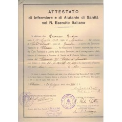 Certificate for military...