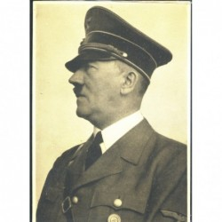 Cartolina Terzo Reich profilo di Adolf Hitler